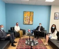 Ministri Faton Peci takoi ambasadoren e  Kroacisë, Danijela Barišić