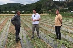 Ministar Faton Peci posetio je oštećene od padavina grada-tuče