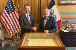 Shteti i Iowas konfirmon mbështetjen për bujqësinë kosovare